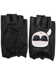 перчатки митенки Karl Karl Lagerfeld