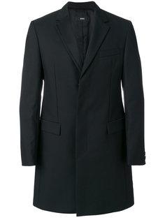 классическое однобортное пальто Boss Hugo Boss