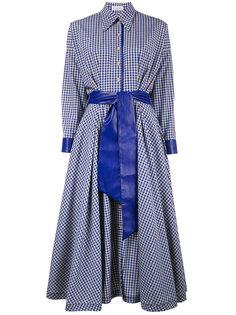 платье-рубашка в клетку с поясом  Vika Gazinskaya
