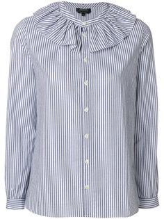 рубашка в полоску с оборками  A.P.C.