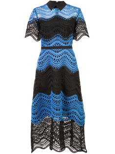 embroidered flared dress  Lela Rose