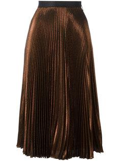 плиссированная юбка из ламе Christopher Kane