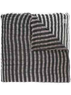 striped knitted scarf Faliero Sarti