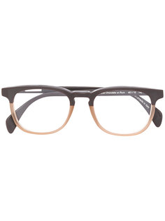square glasses with sunglass attachment Oliver Goldsmith