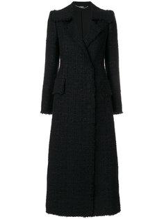 строгое твидовое пальто  Alexander McQueen