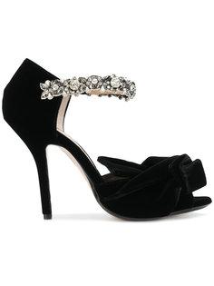 туфли с кристаллами на ремешке Nº21