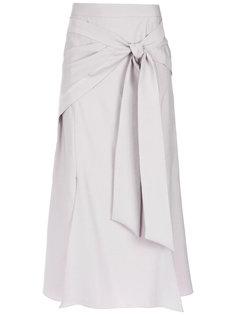 bow detail midi skirt Giuliana Romanno