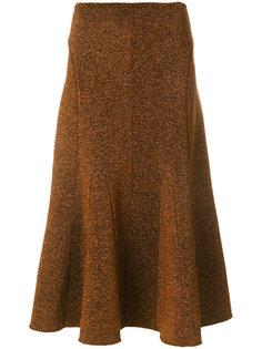 расклешенная меланжевая юбка  Pringle Of Scotland