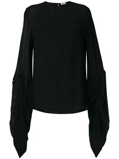 блузка с удлиненными рукавами  Saint Laurent