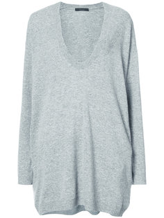 oversized plunge knitted top The Row