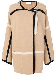 пальто свободного кроя с контрастной окантовкой Chloé