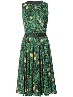 расклешенное платье с цветочным принтом  Akris