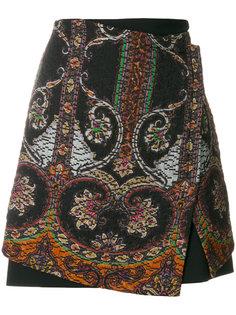 юбка с принтом металлик  Etro