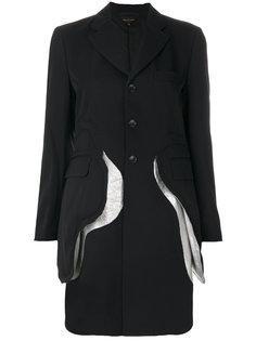 однобортное пальто с клапанами  Comme Des Garçons