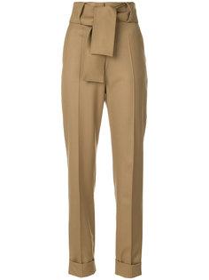 брюки с завышенной талией и поясом  Sara Battaglia