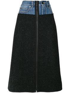 юбка А-силуэта с джинсовым поясом Maison Margiela