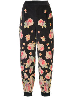 high-waisted floral trousers  Vilshenko