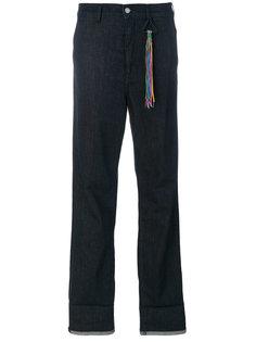 прямые джинсы с радужным подолом Mira Mikati
