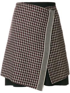 юбка в клетку с запахом  Etro