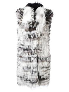 пальто с поясом без рукавов Yves Salomon