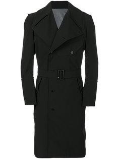 двубортное пальто кроя слим Y-3