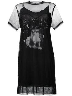 сетчатое платье с графическим принтом  McQ Alexander McQueen
