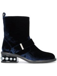 Casati faux pearl embellished boots Nicholas Kirkwood