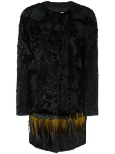 пальто с перьями Yves Salomon