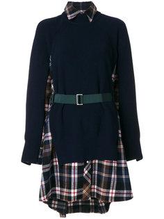 платье-свитер в клетку  Sacai