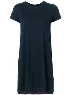 расклешенная длинная футболка  Sacai