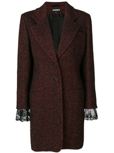 однобортное пальто с кружевными манжетами  Ann Demeulemeester
