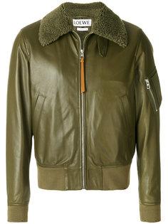 куртка-бомбер с воротником из овчины Loewe