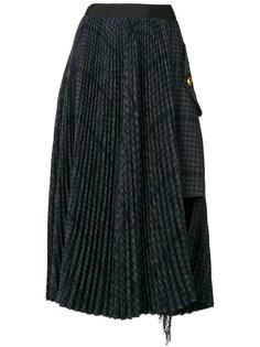 асимметричная юбка в ломаную клетку  Sacai