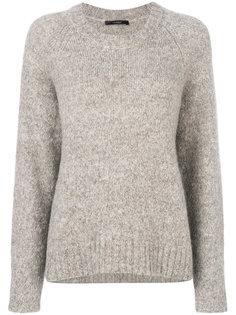 свитер в рубчик с круглым вырезом  Odeeh