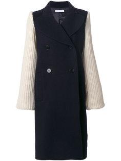 пальто крупной вязки  J.W.Anderson