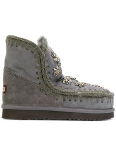 boots with crystal flower embellishment Mou