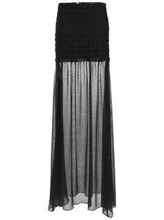 sheer maxi skirt Giuliana Romanno