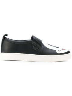 Mickey print slip-on sneakers Moa Master Of Arts