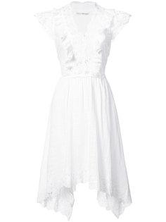 embroidered draped hem dress Ulla Johnson