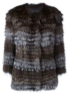 пальто в клетку  Yves Salomon
