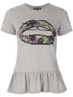 футболка с баской Artic Flower Lip Markus Lupfer