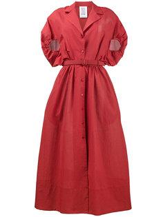 платье-рубашка с присборенными объемными рукавами  Rosie Assoulin