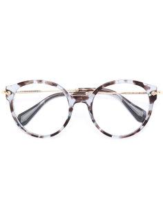 очки в круглой оправе Miu Miu Eyewear