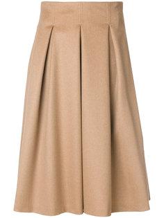 плиссированная пышная юбка Max Mara