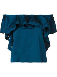 блузка с рюшами и открытыми плечами Rachel Zoe