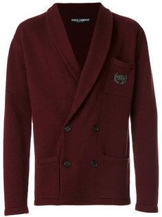 пиджак с лацканами-шалькой Dolce & Gabbana