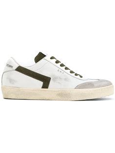 кроссовки с потертой отделкой Leather Crown