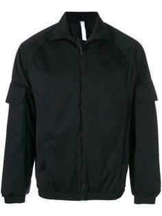 pleated sleeve bomber jacket Cottweiler