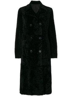 пальто с мехом ягненка Drome