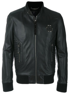 куртка-бомбер в байкерском стиле Philipp Plein